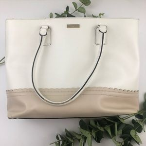 Kate Spade Large Leather Scalloped Tote Bag